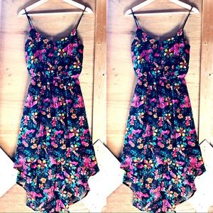 Floral High Low Dress